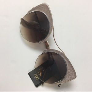 Accessories - Sunglasses, cat eye with glitter frames, festival